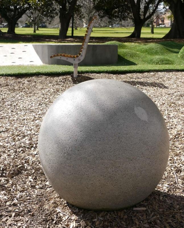 Fawkner Park Granite Sphere Leaf Print 12 Copy