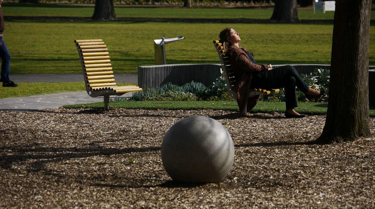 melbourne city council fawkner park granite range vega sphere leaf print