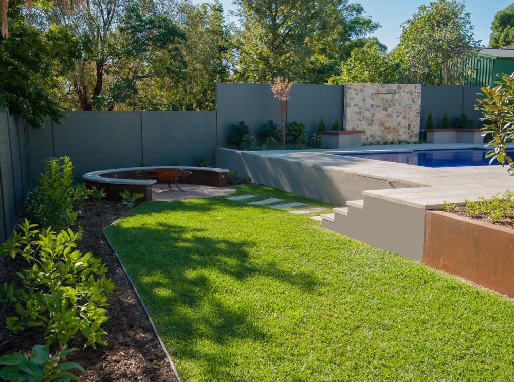 Sphere Garden Design Traditional Range Devon Pool Coping 50mm Square Edge 2