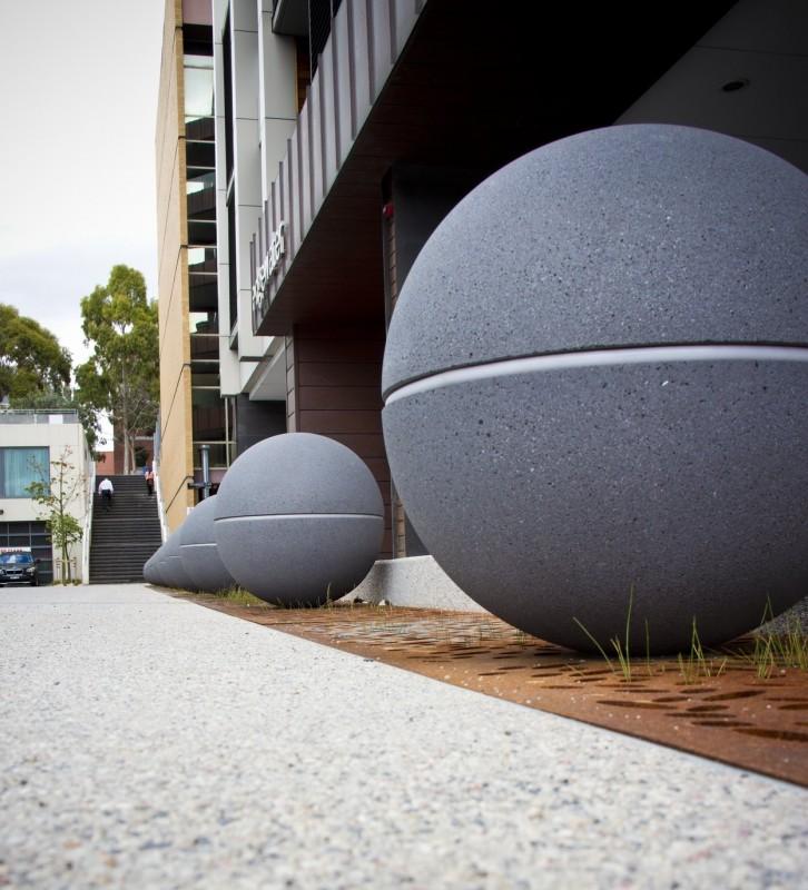 geelong city council spheres led lights granite range mimosa 111